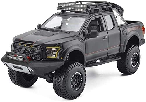 カーモデル、モデルカー1時24フォードF150ラプターピックアップシミュレーション合金のオリジナルスポーツカーモデルコレクション