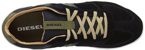 Diesel Uomo Happy Hours Sneaker In Lega S Nero / Notte Oliva