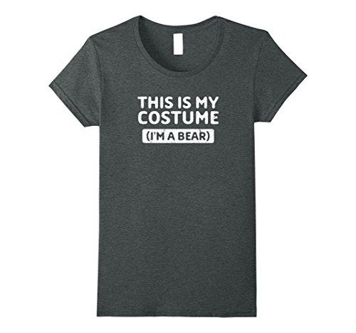 Share Bear Halloween Costume (Womens I'm a Bear Funny Halloween Costume Gift T-Shirt Medium Dark Heather)