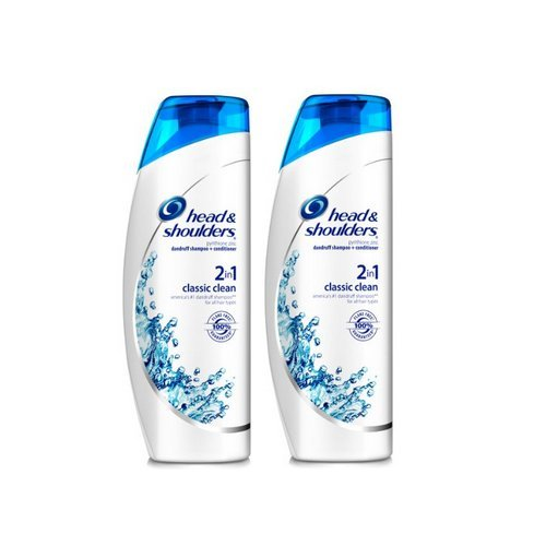 Head & Shoulders Classic Clean 2 In 1 Dandruff Shampoo Conditioner 23.7 Fluid Ounce (Pack Of 2) by Head & Shoulders