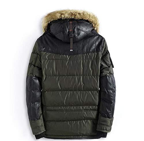Invernale Con Velluto Da Giacca In Uomo Dimensioni Invernale black E Cappuccio Di l Green Piumino Grandi TFc3K1Jul