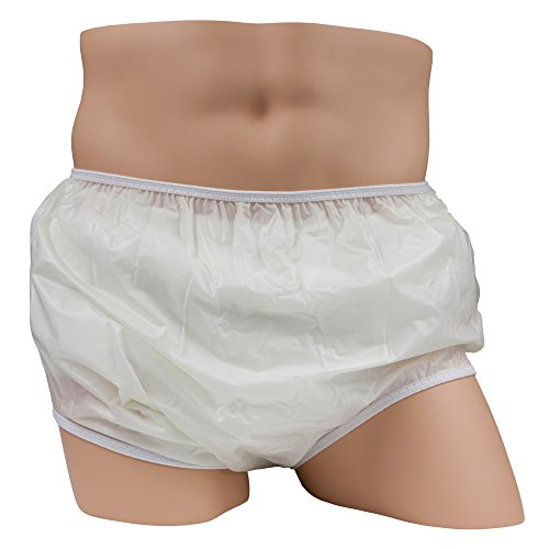 Leakmaster Pull On Vinyl Plasitc Pant White -5X-Large