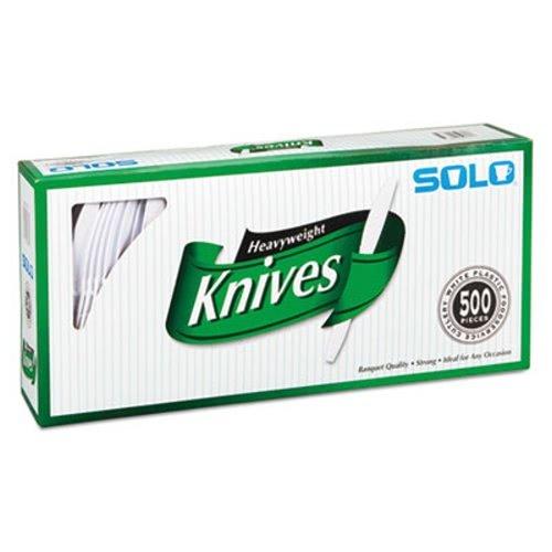 - SOLO Cup Company - Heavyweight Plastic Cutlery, Knives, White, 7 in, 500/Carton 827271 (DMi CT