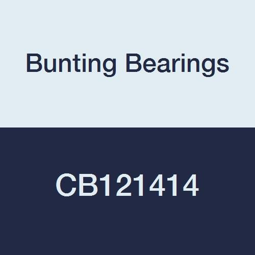 Bunting Bearings CB121414 Sleeve (Plain) Bearings, Cast Bronze C93200 (SAE 660), 3/4