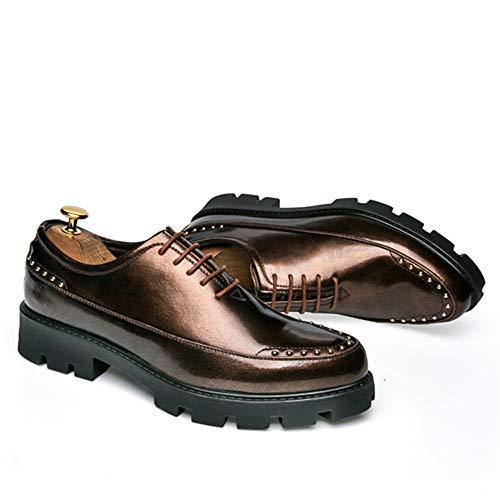comode tinta pelle unita Gold Dimensione Basse vera tinta EU Xujw scarpe 41 da Gold shoes oxford uomo Scarpe Stringate Color unita in 2018 Scarpe xPTq6