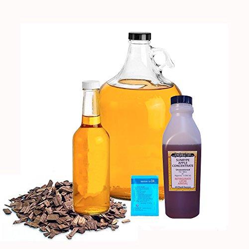 - HomeBrewStuff Basic 1 Gallon Table Top Nano-Cider Hard Oaked Apple Cider Recipe Refill Kit