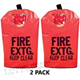 """2 - FIRE Extinguisher Cover (with Window) for 5 to 10lb. Extinguishers, Small 20"""" x 11 1/2"""""""