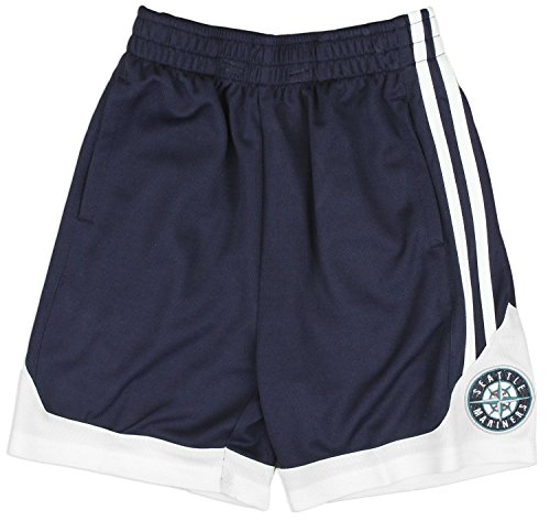 (Outerstuff Seattle Mariners MLB Little Boys and Big Boys Team Shorts - Navy Blue (XL (14/16)))