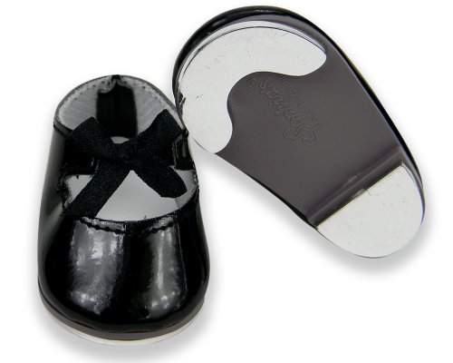 - 18 Inch Doll Tap Shoes, Doll Dance Shoes that are Safety Tested (no lead) Made to fit American Girl Dolls & More! Black Patent Mary Jane Style Tap Doll Shoes