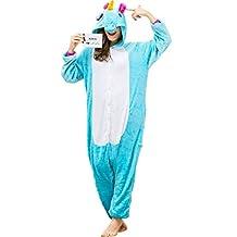 iSZEYU Adult Unicorn Onesie Pajamas for Women or Men Blue Pink Costumes