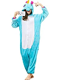 iSZEYU Adult Onesie Unicorn Pajamas for Women or Men Cosplay Halloween Costumes