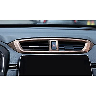 Flash2ning for Honda CRV CR-V 2020-2020 Peach Wood Grain Air Vent Outlet Panel Cover Trim 1 Set: Automotive