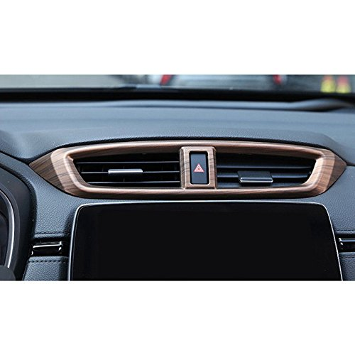 Flash2ning for Honda CRV CR-V 17-19 Peach Wood Grain Air Vent Outlet Panel Cover Trim 1 Set