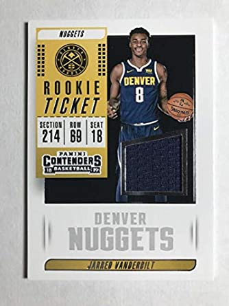 2018-19 Panini Contenders Rookie Ticket Swatch  23 Jarred Vanderbilt RC Jersey  Game Used 4f612f74a