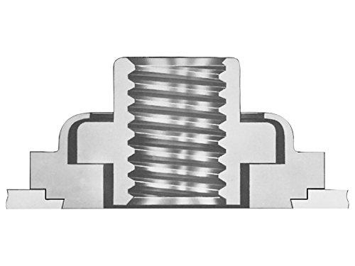 Types LA4 Unified Pem Floating Self-Clinching LAC-440-1MD Locking Thread Fasteners LAC LAS