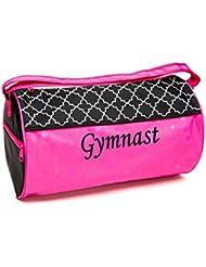 Sassi Designs Lattice & Dots Gymnastics Medium Roll Duffel Bag