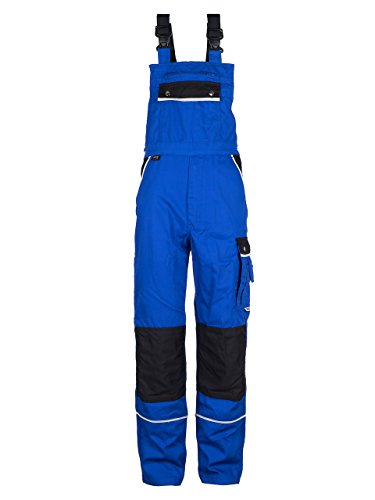 Heavy Duty Bibs (TMG® Heavy Duty Work Bib and Brace Overalls Dungarees with Knee Pads Pockets Blue 58)