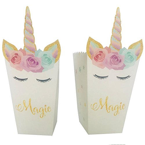 Popcorn Box Pack (12 packs)-Unicorn Theme Party Decoration