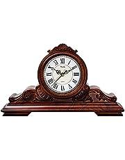 Mantel Clock, Desk Fireplace Mantel Clocks Silent Non-Ticking for Living Room Home Office