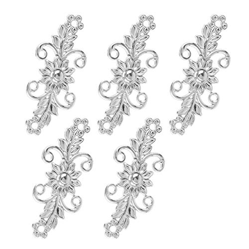 e Knot Buttons for Clothing Decorative Retro Chrysanthemum Chinese Frog Button Cloak Clasp Fastener Cardigan Clips - (Color: Silver A, Size: One Size) ()