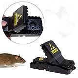 LANIAKEA Humane Rat Snap Trap Mouse with Bait Cup Quick Mice Trap, Pack of 6 Reusable Mousetrap