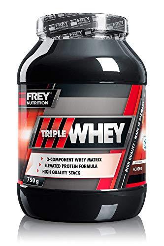 FREY Nutrition TRIPLE WHEY 750 g (Schoko) Whey-Protein – Trägt zur Muskelzunahme und zum Muskelerhalt bei – Hoher 30…