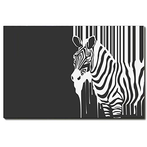 - Art Paintings, 3D HD Painted Modern Abstract - Animal -Geometric Zebra Picture Art,16 * 24inch(40 * 60cm)
