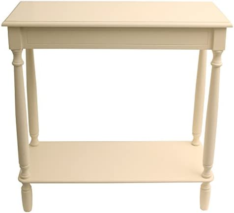 D cor Therapy Console table, 28.25 W x 11.8 D x 28.25 H, Antique White