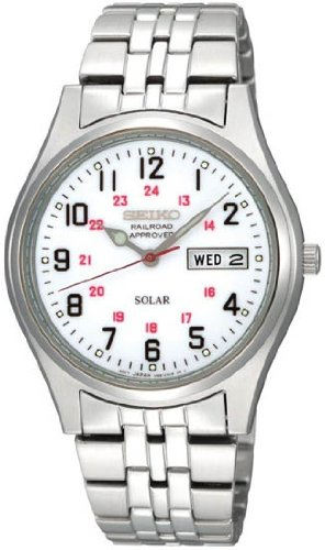 Seiko Jewelers (Seiko Men's SNE045 Solar White Dial Watch)