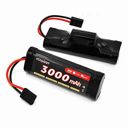 Nimh Hump Battery - Fconegy NiMH Battery 8.4V 3000mAh 7-Cell Hump Pack with Traxxas Plug for RC Cars, RC Truck(RC Hobby)