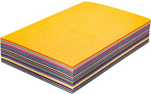 Assorted Stiff Felt Fabric Set: 50 Unique Sheets 8x12 inch (20x30cm) with Handy Storage Container Case; DIY Crafts, Sewing, Decorative Projects by Cycero (Image #3)