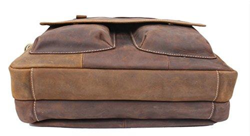 Men's Handmade Vintage Leather Briefcase / Leather Messenger Bag / 15'' MacBook Pro 14'' Laptop Bag / Travel Bag by Memory1985 (Image #3)