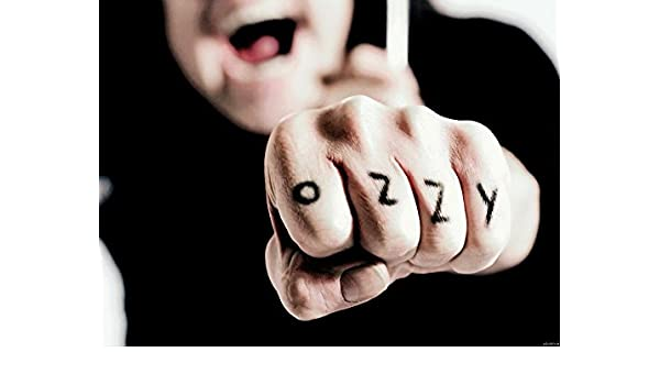 Ozzy Osbourne Tatuaje Dedos Música 32x24 imprimir Posters y ...