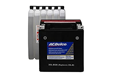 ACDelco ATX30LBSA Specialty AGM Powersports JIS 30CL-B-BSA Battery