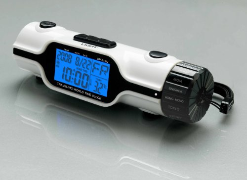 World Time Travel Alarm Clock with Flashlight by Tech Tools