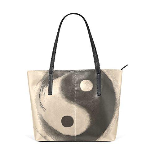 e Tracolla PU Yang Tote Bag Ying in COOSUN Borsa medio Borse per Borsa donne le Acquerello muticolour pelle zYXxqxwd4