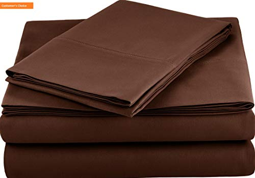 (Mikash New Soft Microfiber Sheet Set - Twin Extra-Long, Chocolate | Style 84596833)