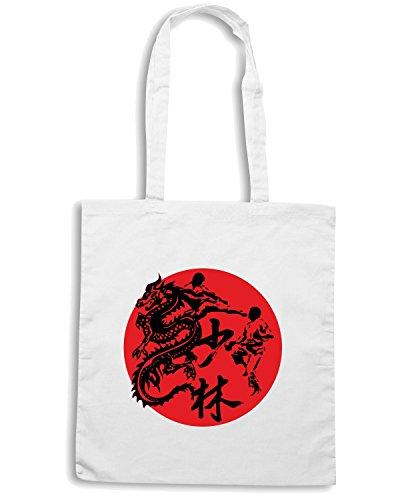 T-Shirtshock - Bolsa para la compra T0403 karate arti marziali Blanco