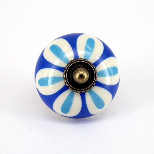 White Fine Porcelain Knob Cabinet - Sala-Fnt - 4PCS Vintage Door Pull Knobs Blue White Hand Painted Porcelain Round Knobs Cabinet Drawer Handles Pull