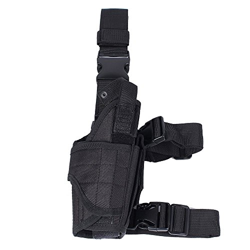 WElinks-Adjustable-Right-Handed-Tactical-Drop-Leg-Thigh-Gun-Pistol-Holster-Pouch