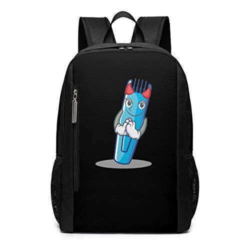 (Halloween Devil Hairdresser Machine Electric Trimmer Theme Pattern Printed Girls Boy Teen Women Kid Men Gym Sports Gear Bookbag Book Back Mini Bag Laptop Backpack Travel)