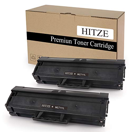 (Hitze Compatible Toner Cartridge Replacement for Samsung MLT 111S 111L MLT-D111S MLT-D111L Xpress SL 2070W 2070FW M2020 MLT-2070FW M2020W 2022W 2022FW M2026 M2026W (Black, 2 Pack, High Yield))