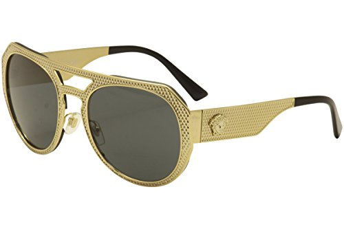 Versace Women's VE2175 Sunglasses Gold / Grey - Sunglasses Prices Versace