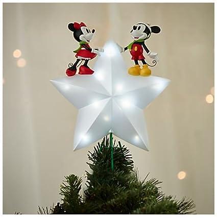 Disney Christmas Tree Topper Uk.Disney Mickey And Minnie Mouse Light Up Christmas Tree