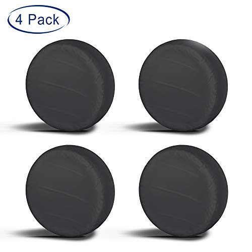 "Aebitsry Tire Covers for RV Wheel, (4 Pack) Motorhome Wheel Covers Waterproof Oxford Sun UV Tires Protector for Trailer, Camper, Van, SUV, Auto, Universal Fits 27"" to 32"" Car Tire Diameter (27"" - 29"")"