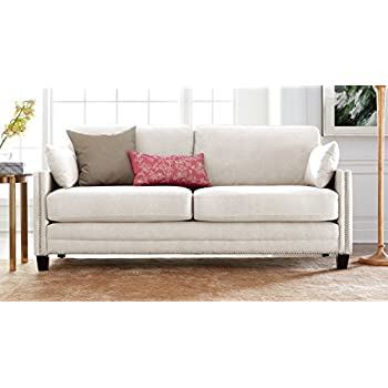 Amazon Com Aries Sofa By Serta Upholstery Color Graham Cream