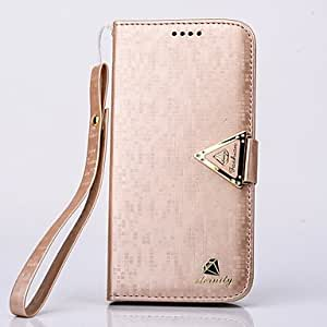 HJZ Luxurious Diamond PU Leather Full Body Case with Stand and Card Slot for Samsung Galaxy S6 Edge(Assorted Colors) , Silver