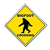 VictoryStore Outdoor Signs - Bigfoot Crossing Sign - 22 inches Corrugated Plastic Diamond Shaped