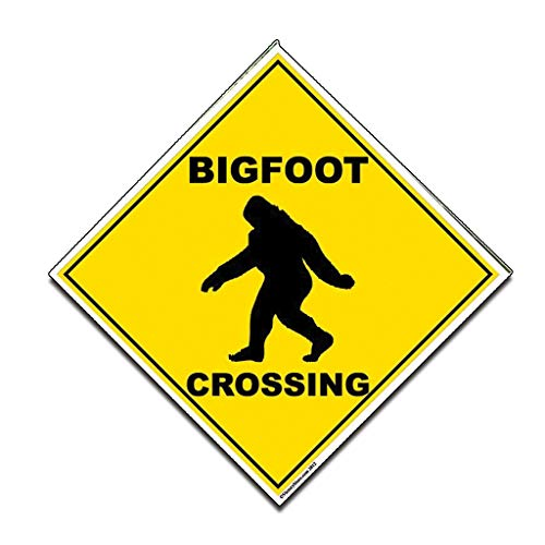 "VictoryStore Outdoor Signs - Bigfoot Crossing Sign - 22"" Corrugated Plastic Diamond Shaped"