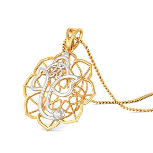 Or jaune 18K 0,04CT TW Round-cut-diamond (IJ | SI) Pendentif